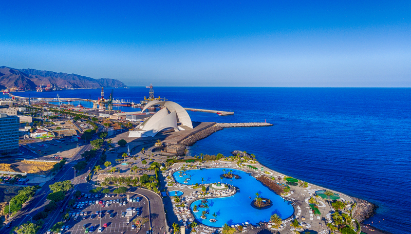 TFS Airport is located 60 kilometres southwest of Santa Cruz de Tenerife, the island's capital.