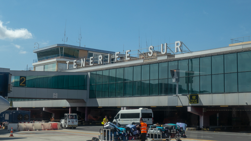 Tenerife South Airport (TFS) serves Tenerife island and is the second busiest airport in Canary Islands.